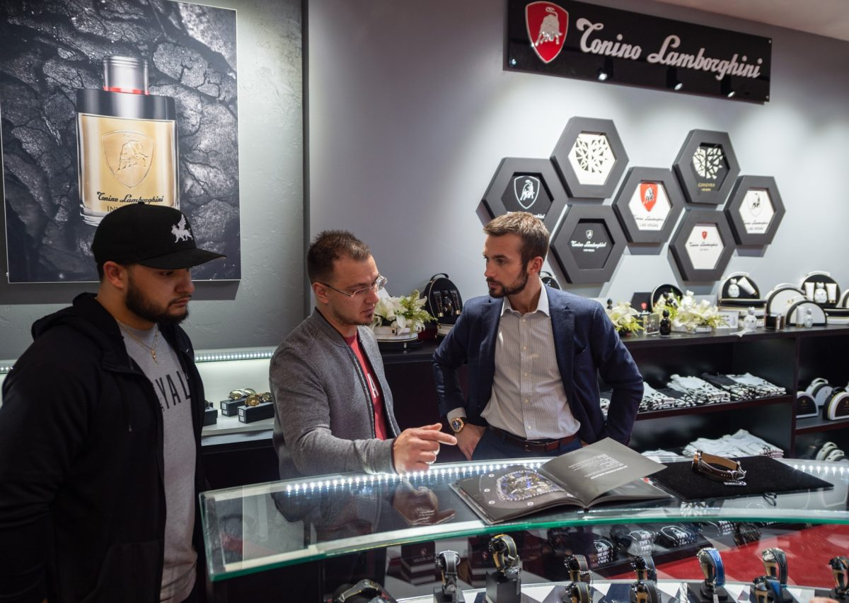 Tonino Lamborghini store opennign and party on 21 February 2020 in Caesar's Hotel Las Vegas, Nevada, Utah The United States of America.